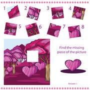 Find missing piece - Puzzle game for Children Stock Illustration