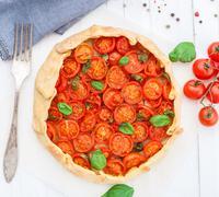 Cherry tomato tart Stock Photos