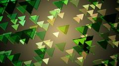 Green glowing triangle Stock Footage