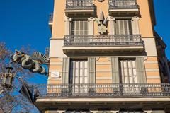 Building in Barcelona - stock photo