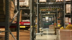 A warehouse with goods in large shopping center Stock Footage