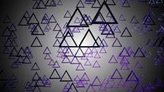 Triagonal purple glossy Stock Footage