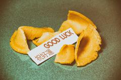 Fortune Cookie Good Luck Stock Photos