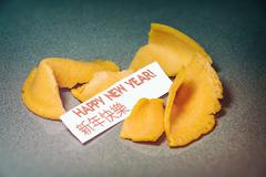 Fortune Cookie Happy New Year Stock Photos