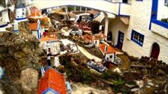 Motion Miniature Village Stock Footage