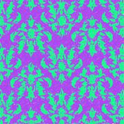 Stock Illustration of Sketchy Damask Background Green on Purple