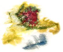 splash green, red, blue paint blot watercolour color water ink i - stock illustration