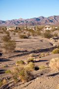 Abandoned Buildings California Wild West Mojave Desert - stock photo