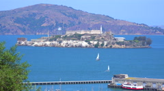 Alcatraz Island in San Francisco harbor. Arkistovideo