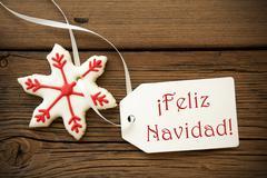 Feliz Navidad, Spanish Christmas Greetings Stock Photos