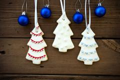 Stock Photo of Christmas Decorations as Christmas or Winter Background