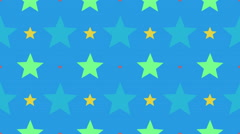 Tileable fun star pattern Stock Footage