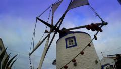 Windmill and Blue Sky Stock Footage