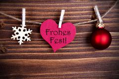 Frohes Fest in a Heart - stock photo