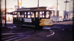 884 - trolley car at turn-about at end of line - vintage film home movie Stock Footage