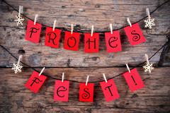 Tags with Frohes Fest - stock photo