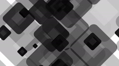 Tileable black rounded array Stock Footage