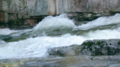 Raging White River Water Stock Footage