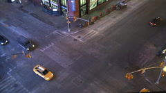 Intersection of 8th Avenue and 42nd Street in Manhattan Stock Footage