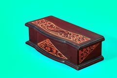 Cyan box vintage - stock photo