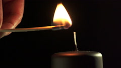 Slow motion of candle Stock Footage