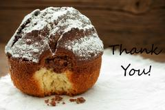 Homemade Cake With Thank You - stock photo