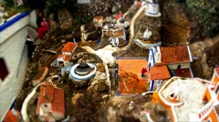 Miniature Village seen from Above Stock Footage