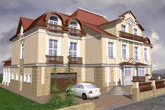 Mansion Classic Style - stock illustration