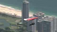 Rio de Janeiro: Hang Gliding over the City Stock Footage