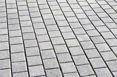 Stock Photo of floor tiles of granite paving stones