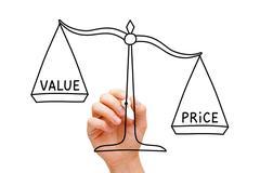 Price Value Scale Concept - stock photo