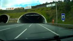 Tunnel Car Driving - stock footage