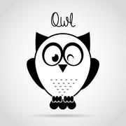 Stock Illustration of owl bird design, vector illustration eps10 graphic