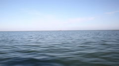View of waves from boat Stock Footage