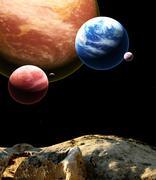Beautiful majestic space - stock photo