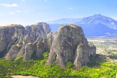Mountains Meteors, Kalampaka, Greece Stock Photos