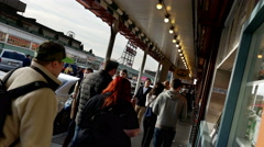 Shoppers, Crowds, Pike Place Market, Seattle, 4K Stock Footage