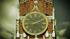 Spasskaya Tower Stock Footage
