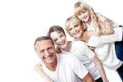 We are a happy family ! - stock photo