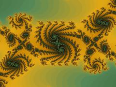Decorative fractal background  Stock Illustration