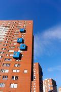 Many apartments flats Stock Photos