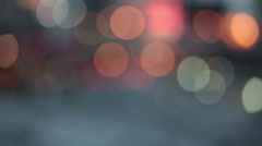 Abstract bokeh particles light floating for festival theme background - stock footage