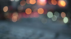 Abstract bokeh particles light floating for festival theme background Stock Footage