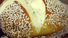 Some Pretzel Rolls (not loopable) Stock Footage