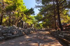 Old town Phaselis in Antalya, Turkey Stock Photos