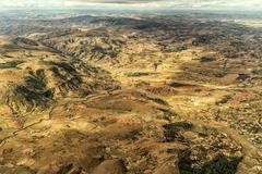 Mountainous Terrain of Madagascar - stock photo