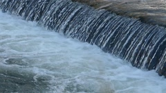 Waterfall Slow Motion Close Up Stock Footage