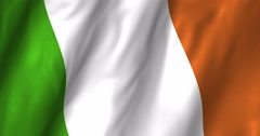 Ireland Waving Flag-4K Stock Footage