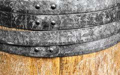 old wine wooden barrel - stock photo