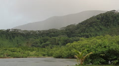 Mountains on the Micronesian island of Pohnpei Stock Footage